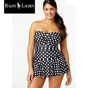 🔥 NWT- Ralph Lauren Retro Polka-dot Swim dress 🔥